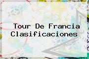 <b>Tour De Francia</b> Clasificaciones