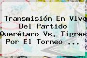 Transmisión En Vivo Del Partido <b>Querétaro Vs</b>. <b>Tigres</b> Por El Torneo <b>...</b>