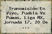 Transmisión En Vivo, Puebla Vs Pumas, <b>Liga MX</b>, <b>jornada 17</b>, 20 De ...
