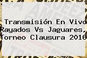 Transmisión En Vivo <b>Rayados Vs Jaguares</b>, Torneo Clausura 2016