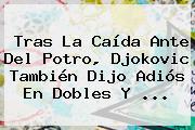 Tras La Caída Ante Del Potro, <b>Djokovic</b> También Dijo Adiós En Dobles Y ...