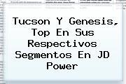 Tucson Y <b>Genesis</b>, Top En Sus Respectivos Segmentos En JD Power