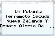 Un Potente Terremoto Sacude <b>Nueva Zelanda</b> Y Desata Alerta De ...