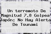 Un <b>terremoto</b> De Magnitud 7.8 Golpea <b>Japón</b>: No Hay Alerta De Tsunami