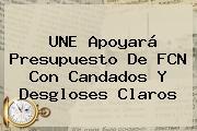 <b>UNE</b> Apoyará Presupuesto De FCN Con Candados Y Desgloses Claros