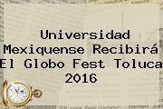 Universidad Mexiquense Recibirá El <b>Globo</b> Fest Toluca 2016
