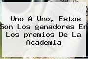 Uno A Uno, Estos Son Los <b>ganadores</b> En Los <b>premios</b> De La Academia