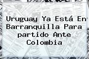 <b>Uruguay</b> Ya Está En Barranquilla Para <b>partido</b> Ante <b>Colombia</b>