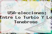 <b>USA</b>-<b>elecciones</b>: Entre Lo Turbio Y Lo Tenebroso