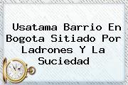 Usatama Barrio En <b>Bogota</b> Sitiado Por Ladrones Y La Suciedad