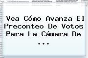 Vea Cómo Avanza El Preconteo De Votos Para La Cámara De ...