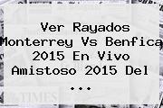 Ver Rayados <b>Monterrey Vs Benfica</b> 2015 En Vivo Amistoso 2015 Del <b>...</b>