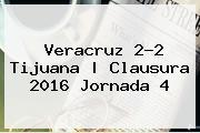 <b>Veracruz 2-2 Tijuana | <b>Clausura 2016 Jornad</b>a 4</b>