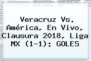 <b>Veracruz Vs</b>. <b>América</b>, En Vivo, Clausura 2018, Liga MX (1-1): GOLES