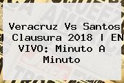 <b>Veracruz Vs Santos</b> | Clausura 2018 | EN VIVO: Minuto A Minuto