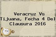 <b>Veracruz Vs Tijuana</b>, Fecha 4 Del Clausura 2016