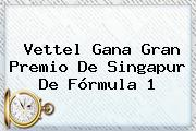 Vettel Gana Gran Premio De Singapur De <b>Fórmula 1</b>