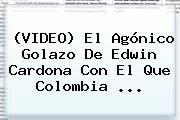 (VIDEO) El Agónico Golazo De <b>Edwin Cardona</b> Con El Que Colombia ...