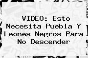 VIDEO: Esto Necesita Puebla Y <b>Leones Negros</b> Para No Descender