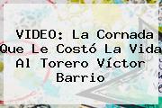 VIDEO: La Cornada Que Le Costó La Vida Al Torero <b>Víctor Barrio</b>