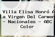 Villa Elisa Honró A La <b>Virgen Del Carmen</b> - Nacionales - ABC Color