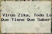 <b>Virus Zika</b>, Todo Lo Que Tiene Que Saber
