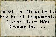 Viví La <b>firma De La Paz</b> En El Campamento Guerrillero Más Grande De ...