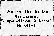 Vuelos De <b>United Airlines</b>, Suspendidos A Nivel Mundial