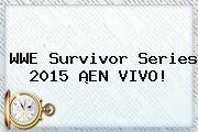 WWE <b>Survivor Series 2015</b> ¡EN VIVO!