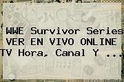WWE <b>Survivor Series</b> VER EN VIVO ONLINE TV Hora, Canal Y ...
