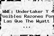 <b>WWE</b>: Undertaker Y 4 Posibles Razones Por Las Que The Wyatt <b>...</b>