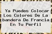 Ya Puedes Colocar Los Colores De La <b>bandera De Francia</b> En Tu Perfil