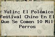 <b>Yulin</b>: El Polémico <b>festival</b> Chino En El Que Se Comen 10 Mil Perros