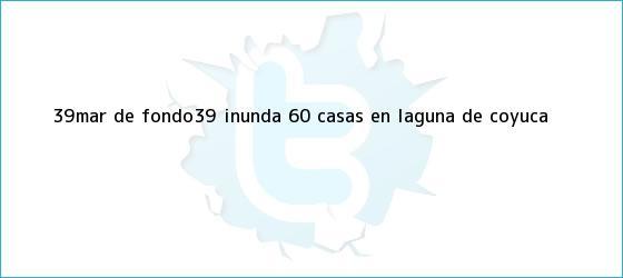 trinos de #39;<b>Mar de fondo</b>#39; inunda 60 casas en Laguna de Coyuca