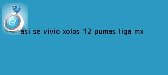 trinos de Así se vivió | <b>Xolos</b> 1-2 <b>Pumas</b> |<b> Liga MX