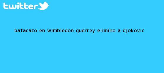 trinos de Batacazo en <b>Wimbledon</b>: Querrey eliminó a Djokovic
