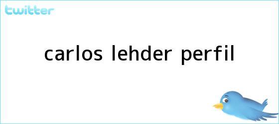 trinos de <b>Carlos Lehder</b> perfil