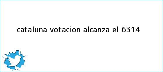 trinos de <b>Cataluña</b>: votación alcanza el 63.14%