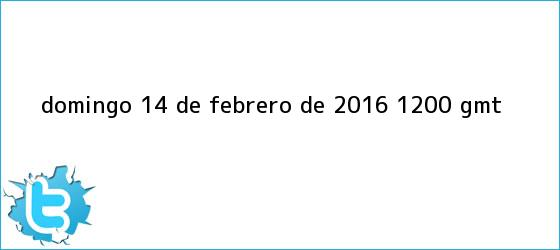 trinos de Domingo, <b>14 de febrero</b> de 2016 (12.00 GMT)