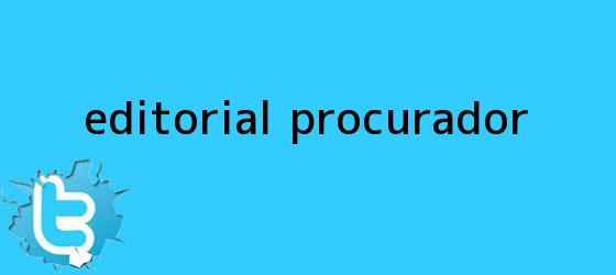 trinos de Editorial <b>procurador</b>