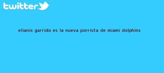 trinos de <b>Elianis Garrido</b> es la nueva porrista de Miami Dolphins