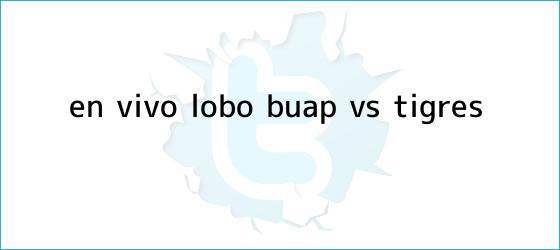trinos de ¡En Vivo! Lobo BUAP vs Tigres