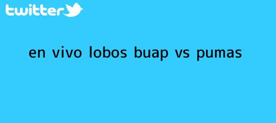 trinos de ¡En vivo! <b>Lobos BUAP vs Pumas</b>