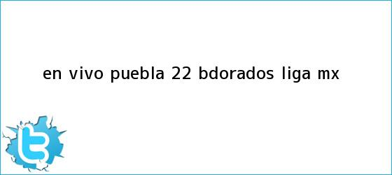 trinos de EN VIVO | <b>Puebla</b> 2-2 <b<i>>Dorados</b> | Liga MX