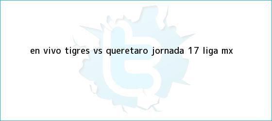 trinos de EN VIVO: <b>Tigres vs Querétaro</b> jornada 17 Liga MX