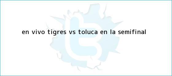 trinos de EN <b>VIVO</b>: <b>Tigres vs Toluca</b> en la semifinal