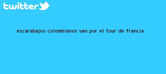 trinos de Escarabajos colombianos van por el <b>Tour de Francia</b>