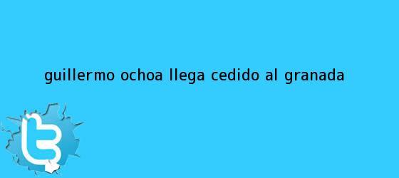 trinos de <b>Guillermo Ochoa</b> llega cedido al Granada