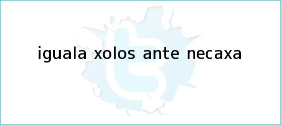 trinos de Iguala Xolos ante <b>Necaxa</b>