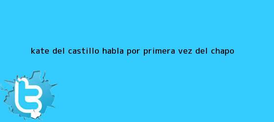 trinos de <b>Kate del Castillo</b> habla por primera vez del Chapo